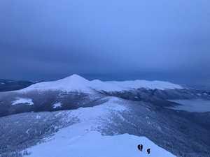 Опасные лавинные участки Черногорского хребта в украинских Карпатах