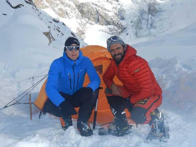 Даниэль Нарди  (Daniele Nardi) и Том Баллард (Tom Ballard) во втором высотном лагере Нангапарбат. Февраль 2019. Фото Daniele Nardi