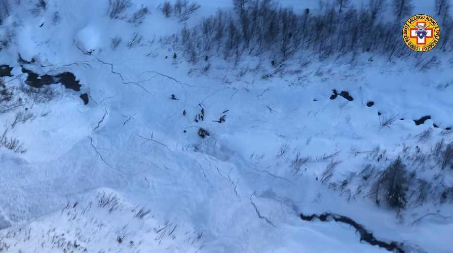Фото с поисково-спасательных работ. Фото Valdostano Alpine Rescue
