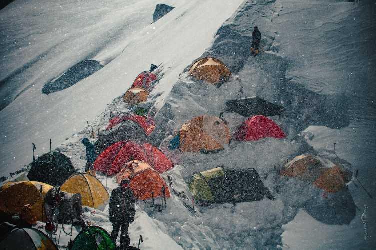уютный третий лагерь Хан-Тенгри. Фото Александр Павлов
