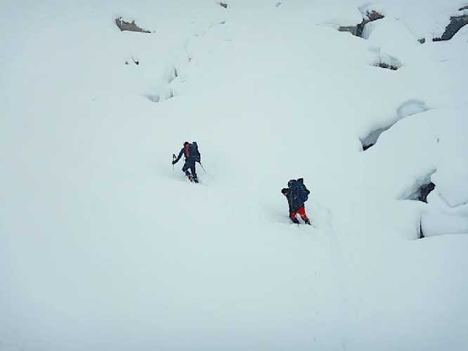Даниэль Нарди (Daniele Nardi) и Том Баллард (Tom Ballard) вышли из базового лагеря на маршрут. февраль 2019. Фото Daniele Nardi