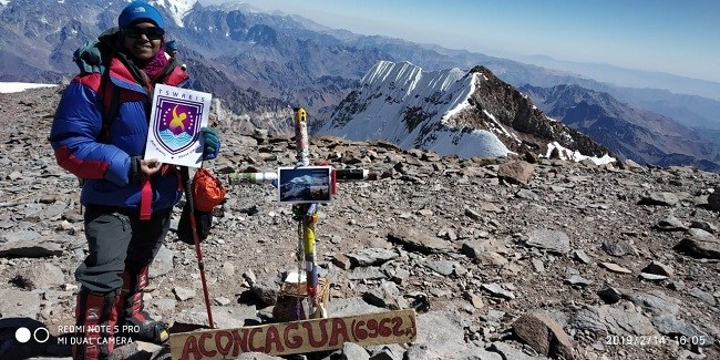 Пурна Малават (Poorna Malavath) взошла на вершину высочайшей точки Южной Америки, гору Аконкагуа (Aconcagua, 6962м). Фото Poorna Malavath