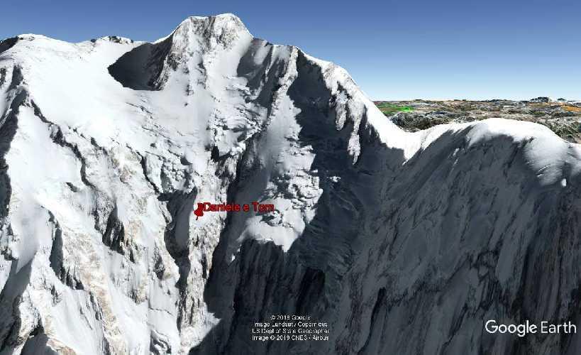 приблизительное место нахождения Даниэля Нарди и Тома Балларда. отметка 25-26 февраля