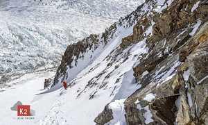 Зимняя экспедиция на К2 Алекса Тикона: команда во втором высотном лагере