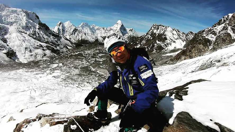 Сунг Таек Хонг (Sung Taek Hong) у второго высотного лагеря. Фото Sung Taek Hong