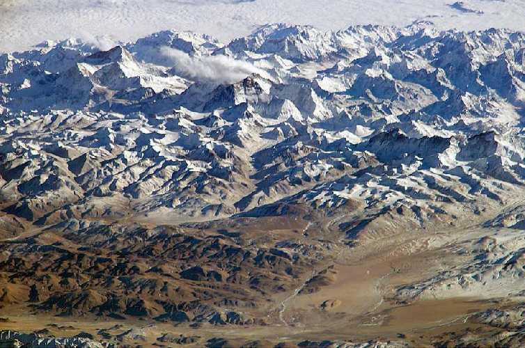 Гималаи. Вид с орбитальной станции