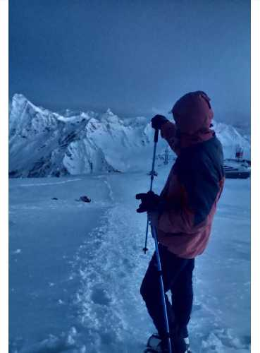 Одно из последних фото альпиниста. Фото предоставлено другом полтавчанина. С сайта kolo . news