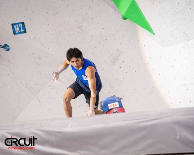 Томоа Нарасаки (Tomoa Narasaki) - победитель этапа Кубка Мира по скалолазанию в Уцзяне
