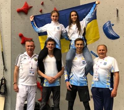 На Чемпионате Мира по скалолазанию среди школьников Украина заняла второе командное место!