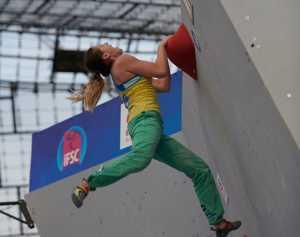 Евгения Казбекова - пятая на этапе Кубка Мира по скалолазанию в Мюнхене
