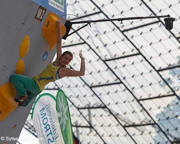 Евгения Казбекова в полуфинале этапа Кубка Мира в Мюнхене. Фото Sytse van Slooten