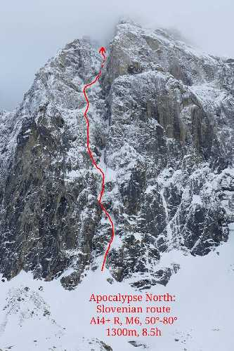 "маршрут ""Slovenian Route""  AI4+ R, M6, 50°-80°, 1300м"
