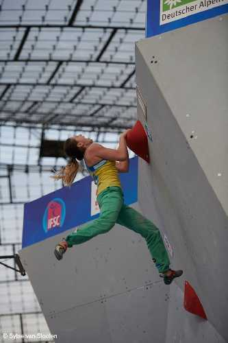 Евгения Казбекова на этапе Кубка Мира в Мюнхене. Фото Sytse van Slooten