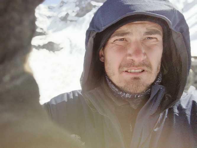 Моя морда після лавини. Фото Віталій Дячук