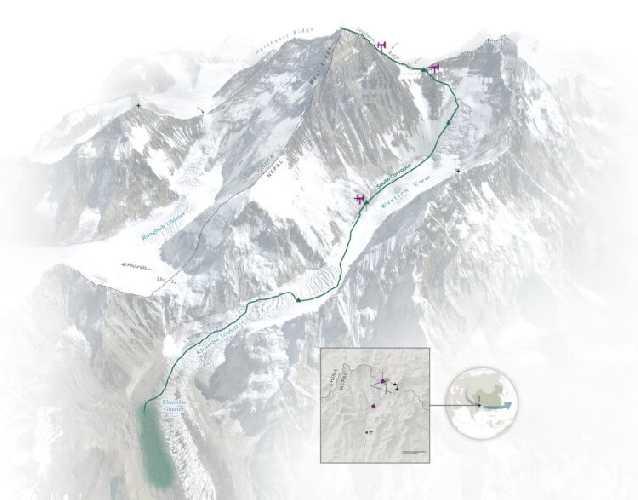 Карта экспедиции. Фото National Geogrpaphic