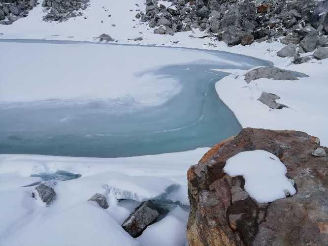 Це озерце з якого брали воду. Фото Віталій Дячук