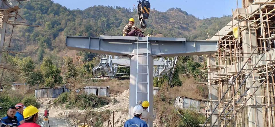 Строительство канатной дороги у Аннапурны