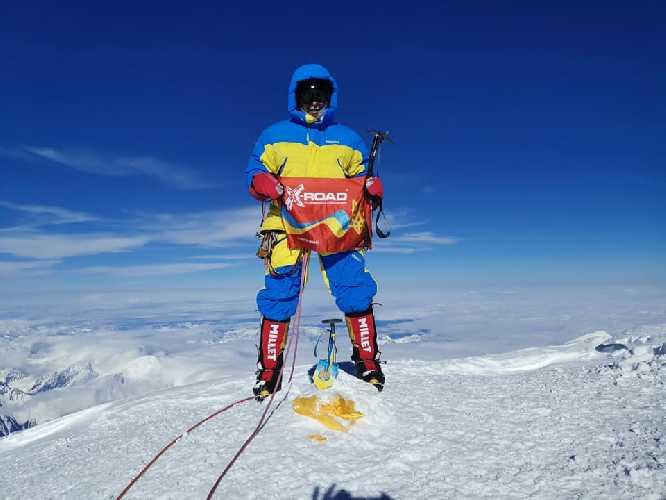 Александр Коваль на вершине Денали. Фото Александр Коваль