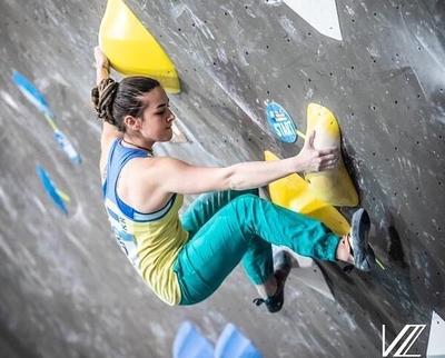 Спортсменка из Днепра Евгения Казбекова вышла в полуфинал Чемпионата Мира по скалолазанию