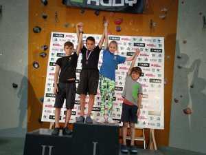 Детская скалолазная команда Украины заняла призовые места на соревнованиях в Праге