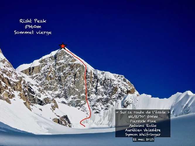 Первый маршрут на вершину пика Ришт (Risht Peak) выстой 5960 метров, что расположен в конце одноименной долины в Пакистане.