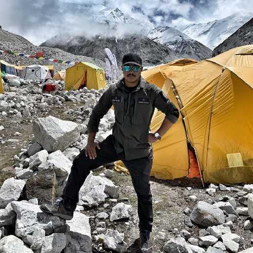 Нирмал Пуржа прибыл в базовый лагерь восьмитысячника Чо-Ойю