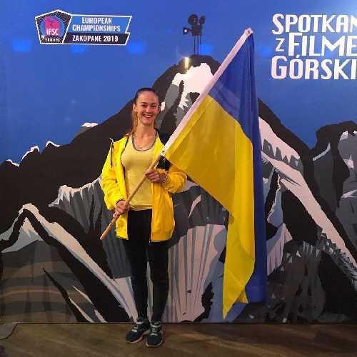 Маргарита Захарова в Польше на Чемпионате Европы по боулдерингу, сентябрь 2019 года.