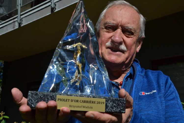 """вручение премии """"За достижения в течение жизни"""" (Lifetime Achievement Award). величайшему польскому альпинисту Кшиштофу Велицкому (Krzysztof Wielicki)"""