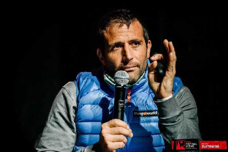 Алекс Тикон (Alex Txikon) на проходившем в польском Лёндек-Здруй горном фестивале и церемонии вручения престижнейшей в мире альпинизма премии: Золотой Ледоруб