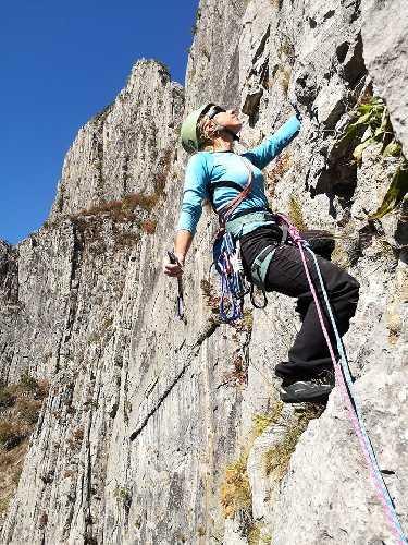 первый день соревнований Чемпионата Украины по альпинизму в скальном классе. Фото fais . org . ua