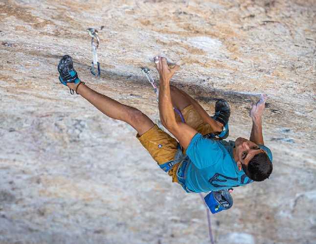 "Хорхе Диас-Рулло (Jorge Díaz-Rullo) на маршруте ""Seta Ibérica"" 9a+.Фото Javipec"