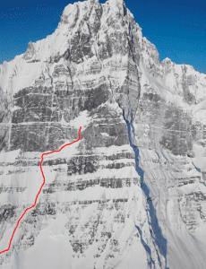 Участок маршрута М16, который прошла команда, лидером связки которой был  Хансьорг Ауэр