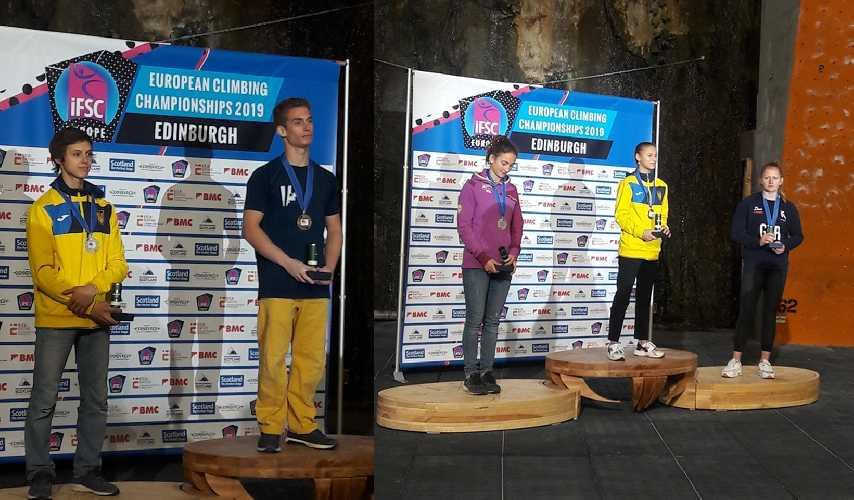 Федор Самойлов - серебряный призер Чемпионата Европы по скалолазанию 2019. Ника Потапова - золотая медалистка Чемпионата Европы по скалолазанию 2019 в дисциплине многоборье