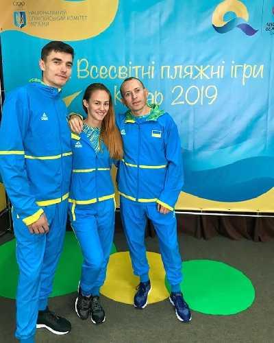 Маргарита Захарова (Харьков), Сергей Топишко (Киев) и тренера команды Андрей Тищенко