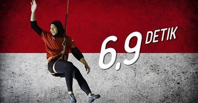 Менее чем 7 секунд: новый мировой рекорд в скалолазании установила Ариес Рахаю из Индонезии на этапе Кубка Мира в Сямыне