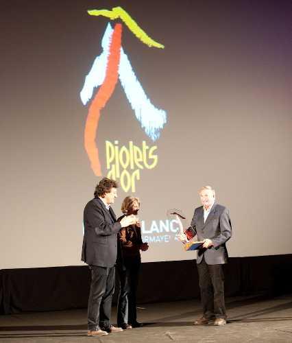 "Робер Параго - лауреат премии ""Piolet d'Or Lifetime Achievement - Walter Bonatti Award"". 2012 год"
