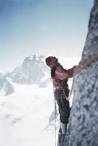 На северной стене Гран Капуцин (Grand Capucin, Mont-Blanc) 1955 год