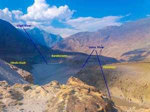 Место встречи высочайших горных систем Земли