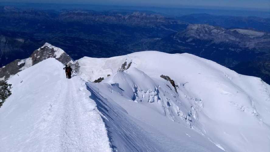 Выход на вершину со стороны Гюте. Фото Владимир Каширин
