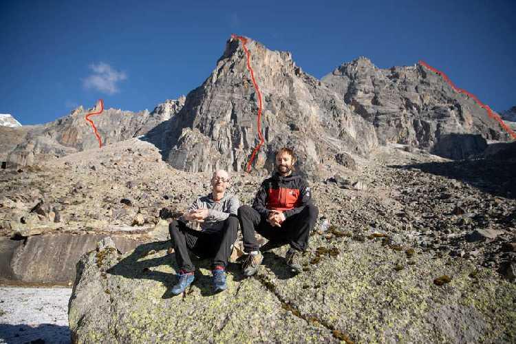 Икер Поу (Iker Pou) и Энеко Поу (Eneko Pou) на фоне новых маршрутов в Индийских Гималаях