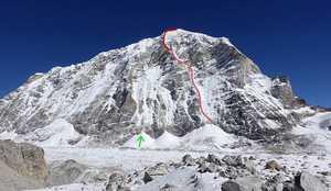 Еще один маршрут на западной стене непальской горы Тенжи Раги Тау