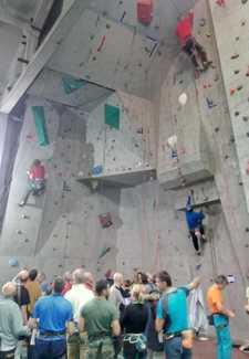 В Харькове прошли ветеранские соревнования по скалолазанию