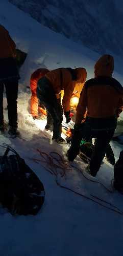 Спасработы словацких спасателей в Высоких Татрах, Словакия по оказанию помощи и эвакуации тел погибших украинских альпинистов. Фото Horská záchranná služba