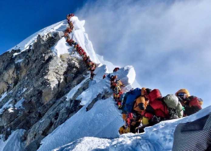 Очередь к вершине Эвереста
