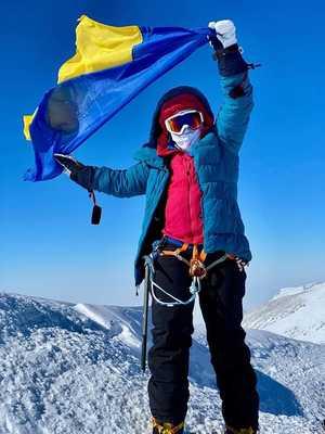 Оксана Литинская стала второй украинкой которая поднялась на