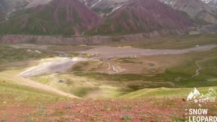 Вид на поляну Ачик-Таш и Базовые лагеря