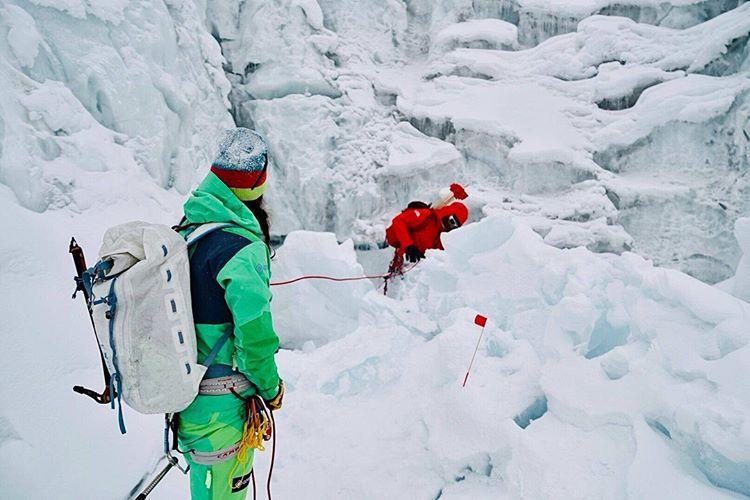 второй день разведки территории вокруг ледника Гашербрум. Фото Simone Moro и Tamara Lunger
