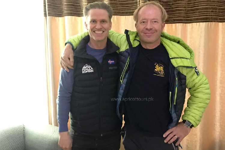 в аэропорту Исламабада встретились и Джон Снорри Сигурджонссон (John Snorri Sigurjónsson), Исландия Томаж Ротар (Tomaz Rotar), Словения
