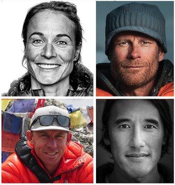 Американская альпинистская «Дрим Тим» команда: Джимми Чин (Jimmy Chin), Конрад Анкер (Conrad Anker), Хилари Нельсон (Hilaree Nelson), Джеймс Уайт Моррисон (James White Morrison)