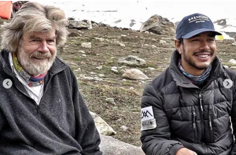 Райнхольд Месснер (Reinhold Messner) и Нирмал Пуржа (Nirmal Purja)